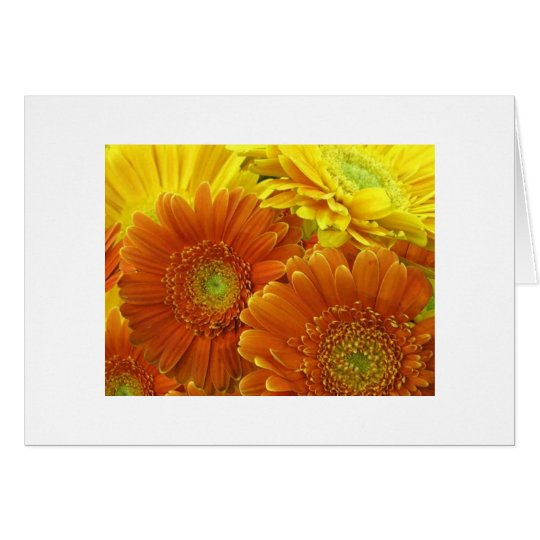 """Red and Yellow and Orange Dahlias"" Card"