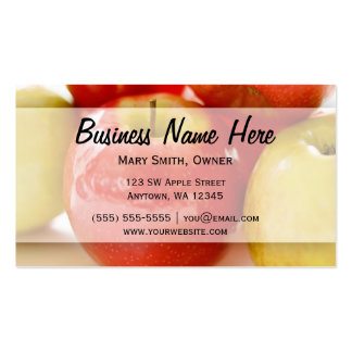 Red and Yellow Apples Business Card