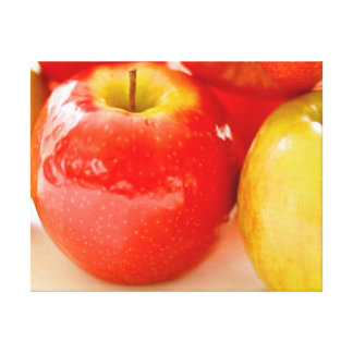 Red and Yellow Apples Canvas Print