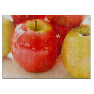 Red and Yellow Apples Cutting Board