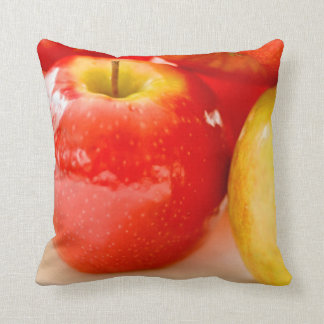 Red and Yellow Apples Pillow