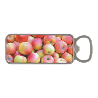 Red and yellow apples print bottle opener