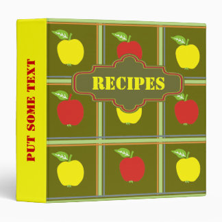 Red and yellow apples recipe custom binder 3 ring binders