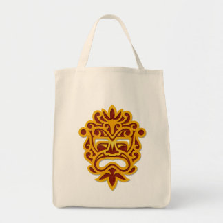 Red and Yellow Aztec Mask Tote Bag