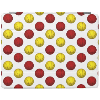 Red and Yellow Basketball Pattern iPad Cover