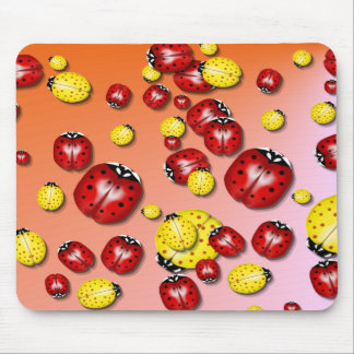 Red and Yellow Bugs  Mousepad