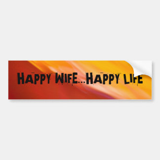 RED AND YELLOW Bumper Sticker