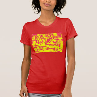 Red and Yellow Carousel Horses Women/Teens t-shirt
