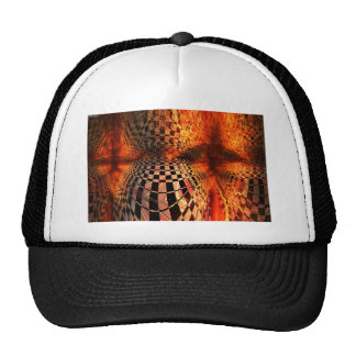 Red And Yellow Checkerboard Trucker Hat