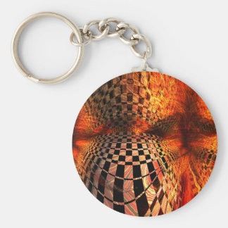 Red And Yellow Checkerboard Keychain
