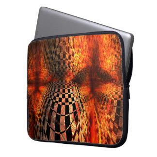 Red And Yellow Checkerboard Laptop Computer Sleeve