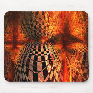 Red And Yellow Checkerboard Mouse Pad