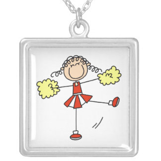 Red and Yellow Cheerleader Necklace