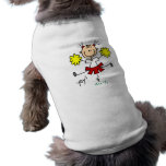 Red and Yellow Cheerleader T-shirts and GIfts Dog Clothes