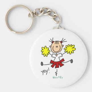 Red and Yellow Cheerleader T-shirts and GIfts Keychain