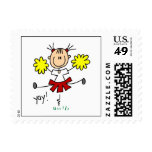 Red and Yellow Cheerleader T-shirts and GIfts Stamp