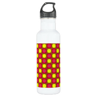 Red and Yellow Circles Water Bottle