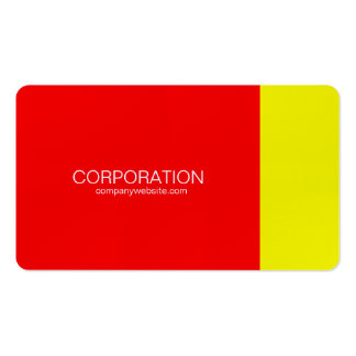 Red and yellow classy business cards