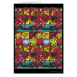 Red and Yellow Comic Art Greeting Card