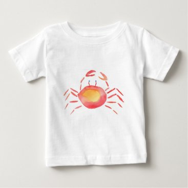 Beach Themed Red and yellow crab baby T-Shirt