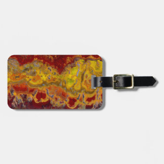 Red and yellow Crayloa Jasper Bag Tag