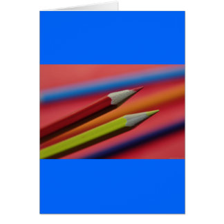 Red-and-yellow-crayons1412 PENCIL CRAYONS COLORFUL Card