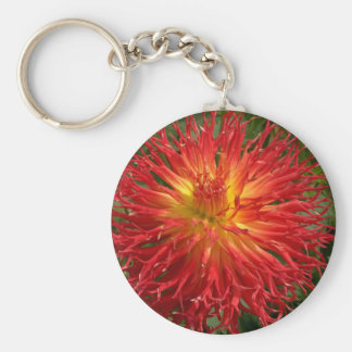 Red And Yellow Crazy Dahlia Multiple Items Keychain