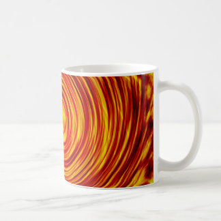 Red and Yellow Cyclone of Abstract Coffee Mug