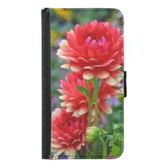 Red and yellow dahlia flowers iphone case