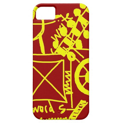 Red and Yellow Doodle Art iPhone 5 Covers