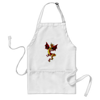 Red And Yellow Dragon Adult Apron