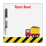 Red and Yellow Dump Truck, For Kids Dry Erase Whiteboards