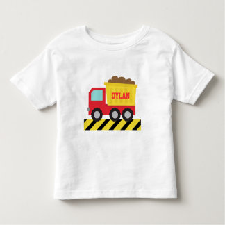 Red and Yellow Dump Truck, For Kids Tshirt