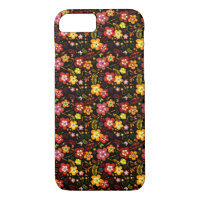 Red and Yellow Floral Vector Beauty iPhone 7 Case (<em>$40.20</em>)