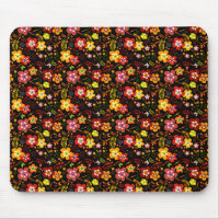 Red and Yellow Floral Vector Beauty Mouse Pad (<em>$13.00</em>)