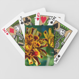 Red and Yellow Flower (Close-up) Bicycle Playing Cards