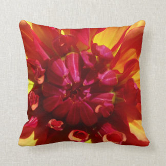 Red and Yellow Flower Pillow