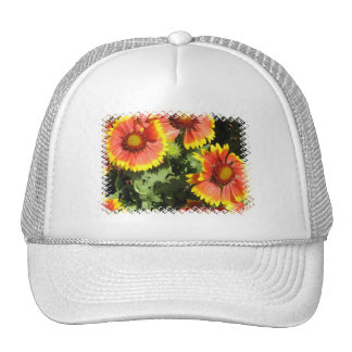 Red and Yellow Flowers Baseball Hat