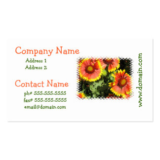 Red and Yellow Flowers Business Card