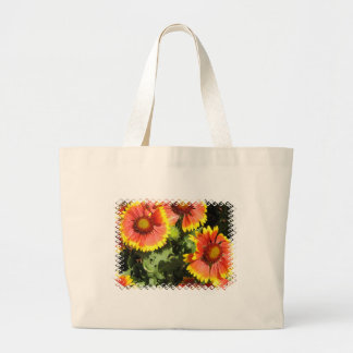 Red and Yellow Flowers Canvas Bag