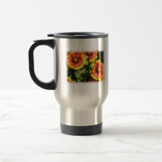 Red and Yellow Flowers Stainless Travel Mug