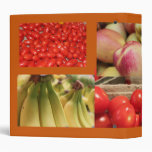 red and yellow fruits and vegetables binders