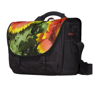Red and Yellow Gaillardia Flowers Bag For Laptop