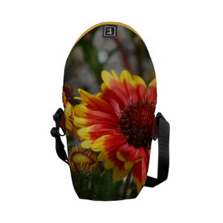 Red and Yellow Gaillardia Flowers Courier Bag