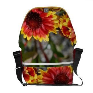 Red and Yellow Gaillardia Messenger Bag