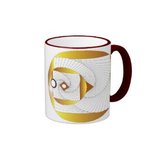 Red and Yellow Geometric Mug