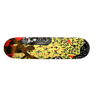 Red and Yellow Girl Skateboard Deck