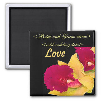 Red And Yellow Gladiolas 2 Inch Square Magnet