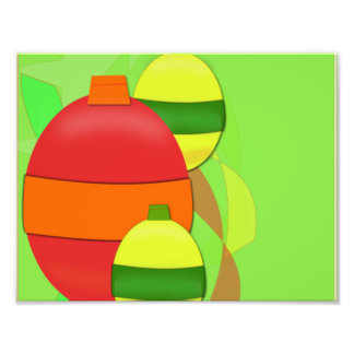 Red and Yellow Glass Bulb Christmas Tree Ornament Photo Print
