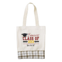 Red and Yellow Graduation Gear Zazzle HEART Tote Bag